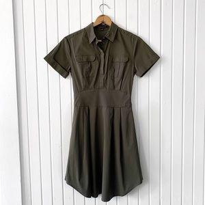 Cynthia Steffe Olive Green Shirt Dress